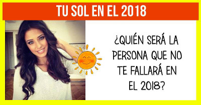 ¿Quién será tu sol en el 2018?